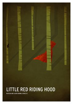 Little Red Riding Hood | 19 Minimalistic Posters Of Your Favorite Childhood Stories