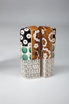 Tower Salt and Pepper Shakers by Connie Norman: Ceramic Salt and Pepper Shakers available at www.artfulhome.com