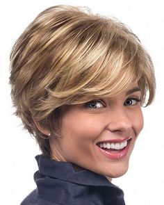 Synthetic Wigs Capless Heat Friendly Synthetic Short Wigs - August 31 2019 at Haircut Styles For Women, Short Haircut Styles, Short Hair Styles Easy, Short Hair Cuts, Pixie Cuts, Girls Short Haircuts, Short Hairstyles For Women, Teenage Hairstyles, Short Blonde Haircuts