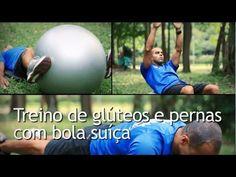 Exercícios Funcionais, para Glúteos e Pernas, com Bola Suíça (Pilates).
