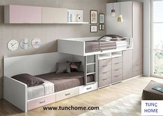 45 Impressive Girl Room Design Ideas With Two Beds For Your Inspiration