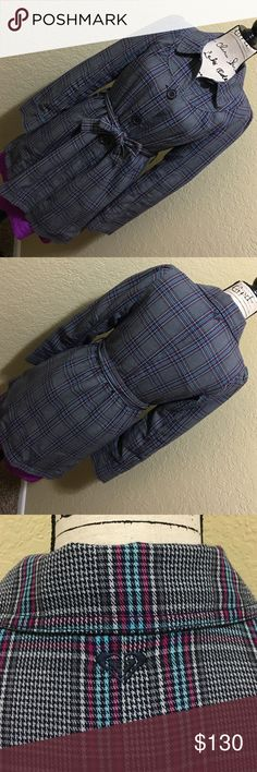 ROXY Plaid Trench Coat💙💕 Excellent Plaid Roxy Trench Coat in used condition. Very minimal, Almost none wear (inside). Outside is Blue, Pink, Grey & white Plaid, Inside Lining is Blue. Made in Vietnam. Shell: 60% Cotton, 40% Polyester. Body Lining: 100% Nylon, Sleeve Lining: 100% Nylon. Send me an offer ✌🏼️ Partial trades will be considered. 💕 Roxy Jackets & Coats Trench Coats