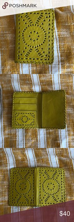 Cleobella Mexicana Passport Holder Cleobella passport holder with pockets for passport, money, cards, or tickets. Yellow Mexicana style Cleobella Bags Wallets