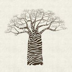 #Zebra baobab
