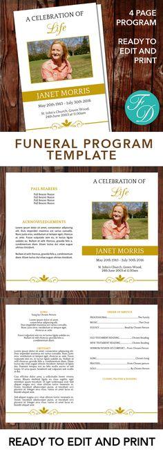 Free Funeral Program Template Microsoft Word Passed Free