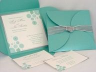 Invitations, Blue, Wedding, Modern, Silver, Unique, Sdezigns weddings, Tifanny M <3 blue weddings!
