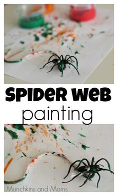 Preschoolers love spider activities! This is a great process art project for Halloween!