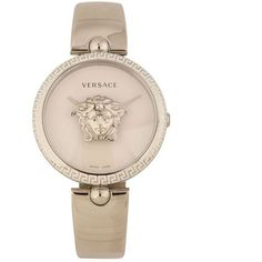 Versace Palazzo Watch ( 1,690) ❤ liked on Polyvore featuring jewelry,  watches, silver 6886d25808