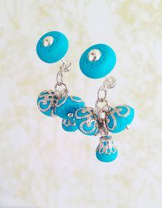 Turquoise studhypoallergenicdrop earringsgift от GAVRYLENKOjewelry