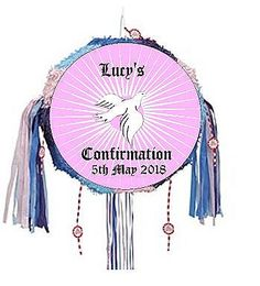 Personalise our Pull-String #Confirmation Girl #Pinata with whatever message you would like. A colourful pull-string pinata like this is great for all ages providing perfect safe fun for this most traditional of party activities.  Quantity Per Pack: - 1 Confirmation Girl Pinata.  Please put your personalise message in the box provided