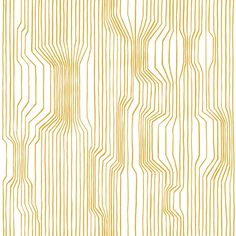 Frekvenssi x Matte Paste the Wall Wallpaper Roll East Urban Home Colour: Yellow Palm Leaf Wallpaper, Bold Wallpaper, Graphic Wallpaper, Wallpaper Size, Striped Wallpaper, Adhesive Wallpaper, Modern Wallpaper, Wallpaper Samples, Wallpaper Roll