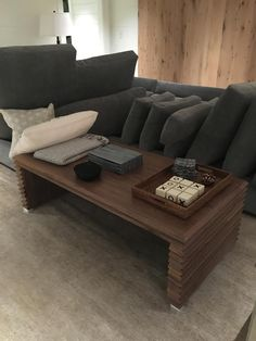 Contemporary Living Room With One Of Our Custom Designed Coffee Tables