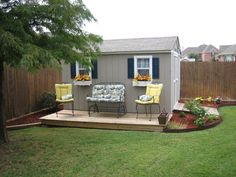 Many storage sheds are built in backyards, but never integrated into the yard itself. By that I meanmost storage sheds tend to look like an afterthought -- sort of like ...