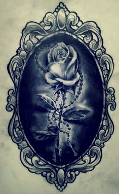 rose in a frame by karlinoboy