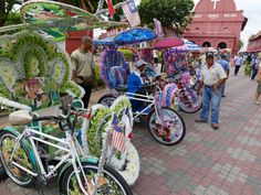 The Strange Trishaws of Malacca, Malaysia - there are just so many of these gaudy vehicles around town.