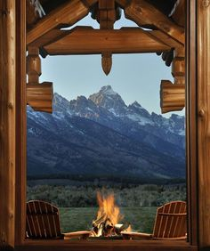 Mountain Getaway.  Forget the getaway, I would love to wake up to that everyday