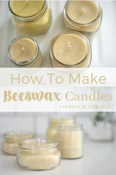 Home Decor Diy how to make beeswax candles - Farmhouse on Boone.Home Decor Diy how to make beeswax candles - Farmhouse on Boone Making Beeswax Candles, Oil Candles, Homemade Candles, Candle Wax, Scented Candles, Candle Craft, Aromatherapy Candles, Expensive Candles, Candle Maker