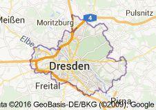 Karte von Dresden Deutschland