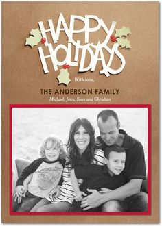 Flat Holiday Photo Cards - Cut Out Craft by Tiny Prints