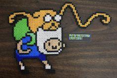 Perler and Artkal fuse bead Finn and Jake from Adventure Time by PkmnMasterTash/pkmnmastertash-creations/Natasha Lazaravich