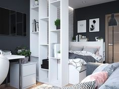 143 bedroom ideas for small rooms page 32 Kids Bedroom Designs, Room Ideas Bedroom, Small Room Bedroom, Small Rooms, Boho Bedroom Decor, Home Bedroom, Ikea Interior, Interior Design Living Room, Aesthetic Rooms