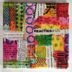Stand out collage canvas collage - birgit koopsen ondergrond