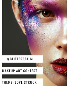 Hi Beauties! our monthly makeup art challenge is here! Ready to get creative? February's theme is LOVE STRUCK. To enter your artwork upload you new creations on theme and tag us @glitterrealm and use the hashtags #365daysofglitter and #glitterrealmmakeupchallenge Make as many artistic beauty looks inspired by love and being love struck.  Rules:  Must be following us on instagram: @glitterrealm Must be following us on Facebook: http://ift.tt/2kkuQ9O Must upload new work for each month's theme…