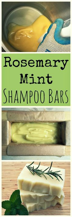 Check out this Learn how to make these awesome homemade rosemary mint shampoo bars! The post Learn how to make these awesome homemade rosemary mint shampoo bars! Shampoo Bar, Piel Natural, Homemade Shampoo, Homemade Conditioner, Homemade Facials, Homemade Deodorant, Homemade Cosmetics, Lotion Bars, Handmade Soaps