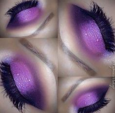 """WowWorld!"" - how stunning is this purple ombre look??!!!"