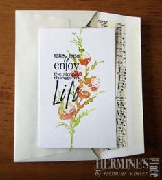 """By Hermine Koster. Uses stamp from """"Delicate Florals"""" by Penny Black."""