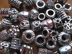 Large Hole Metal Beads  Mixed Bag European by TulipJewelrySupplies, $5.90