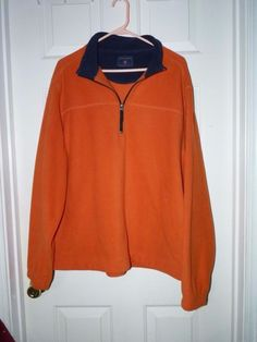 Men's Boys size xlg Saddle Bred Orange Fleece pull over jacket zippered neck eu  #saddlebred #FleeceJacket