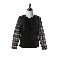 """Damee NYC Jacket, Twin Set with Tank Top, """"Checkerboard"""", in Black Style # 31324 Black Style, Twins, Nyc, Turtle Neck, Tank Tops, Sleeves, Sweaters, Jackets, Fashion"""