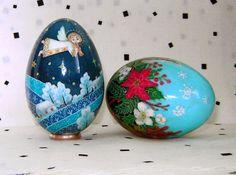 RESERVED for N. Ukrainian Christmas. Goose egg. Pysanka. by agats