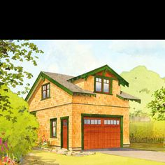 Cute little bungalow garage.  Idea:  relocate garage to side yard.  Use second story for guest room, studio and/or storage.  Also open to a car port