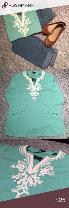 Talbots - Mint Blouse New. Size PS. V-Neck. Talbots Tops Blouses