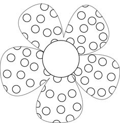 Pattern Coloring Pages, Flower Coloring Pages, Colouring Pages, Coloring Books, Painting Templates, Painting Patterns, Mandala, Do A Dot, Dot Art Painting