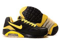 separation shoes 76cf3 28021 Danmark Billige Nike Air Max 180 Trainers Mænd - BlackYellow Logo Nike  Shox Shoes