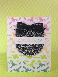 Courtney Lane Designs: Artbooking Stencil Card
