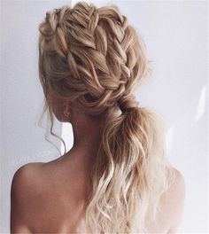 Pretty braids on light brown long hair Hair 12 Easy Braids For Long Hair Box Braids Hairstyles, Pretty Hairstyles, Wedding Hairstyles, Hair Updo, Braided Ponytail Hairstyles, Boho Hairstyles, Braided Locs, Low Ponytails, Twisted Ponytail