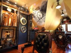 Cool Steampunk Bedroom Interior Decorating Design Ideas