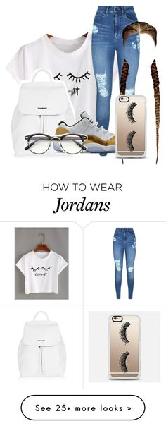 """""""i need this outfit #hairgoals#shoes"""" by nosaj14 on Polyvore featuring WithChic, Topshop, Lipsy, ZeroUV and Casetify"""