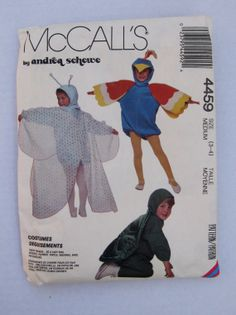Childrens Costume Pattern McCalls 4459 Size 3  4 by QuiltCitySue, $6.00