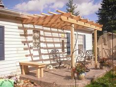 bench trellis fence - Google Search