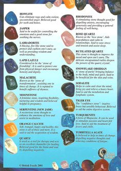 Stones and crystals can help balance, strengthen and improve your energies