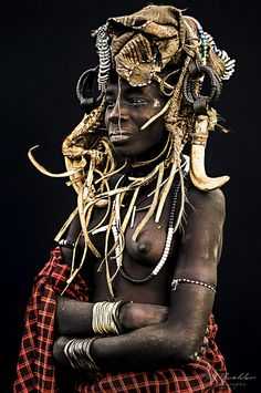 Young Girl from the Mursi Tribe, Omo Valley, Southern Ethiopia. #world #cultures