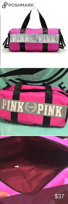 VS PINK GYM BAG NWT GYM BAG PINK Victoria's Secret Bags Crossbody Bags