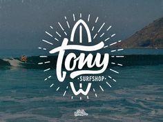 Tony Surfshop logo by Typemate in Logo design