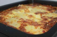 Patatas GRATINADAS con jamón y queso. COMPARTE RECETAS