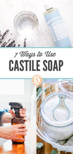 Diy Household Tips 432908582935993917 - The 7 best ways to use one bottle of castile soap, from cleaners to skincare products. Make your own products using one bottle of castile soap. Source by Castile Soap Uses, Castile Soap Recipes, Cleaning Recipes, House Cleaning Tips, Green Cleaning, Cleaning Hacks, Diy Cleaners, Cleaners Homemade, Homemade Face Wash